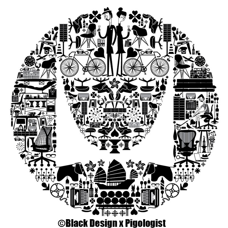 Herman Miller Reach Hong Kong Illustrations   Black Design x PIGOLOGIST